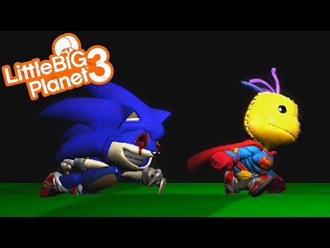 SONIC.EXE IS CHASING SACKBOY | LittleBIGPlanet 3 Gameplay (Playstation 4)