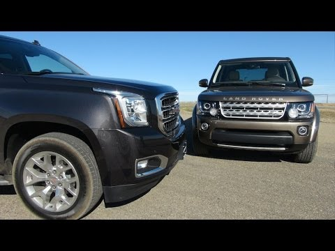 LR4 - http://www.TFLcar.com )The 2015 GMC Yukon and the new Land Rover LR4 are both seven passenger people haulers that cost just over $60000 USD. But which one...