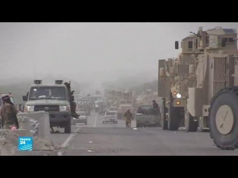 العرب اليوم - شاهد: أرتال عسكرية نحو مدينة الجاح استعدادا لمعركة الحديدة