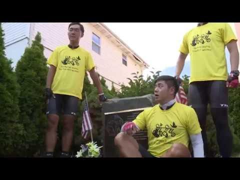 자전거 횡단 대학생 NJ 도착 9.2.16 KBS America News