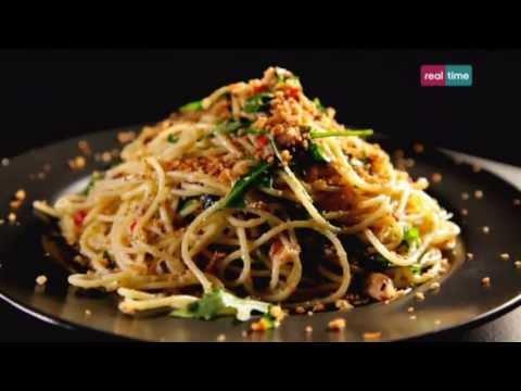 spaghetti peperoncino, sardine e origano - ricetta