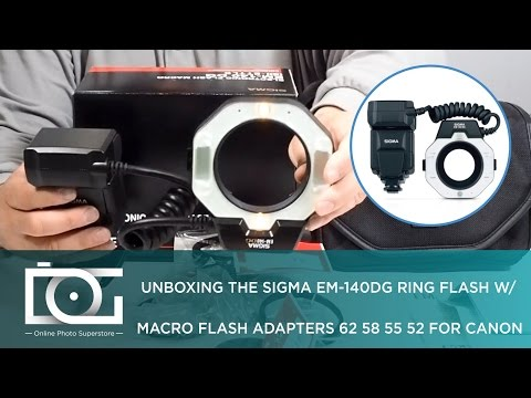 UNBOXING REVIEW | SIGMA EM-140 DG Macro Ring Flash for NIKON & CANON DSLR Cameras