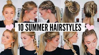 Video 10 CUTE & EASY SUMMER HAIRSTYLES MP3, 3GP, MP4, WEBM, AVI, FLV Juli 2018