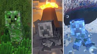 Minecraft | CHAMELEON CAMOUFLAGE CREEPERS MOD! - Mod Showcase! (Atlantis Roleplay)