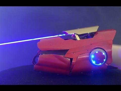 德國玩家Patrick Priebe 全程獨自製作,《鋼鐵人》雷射手臂!