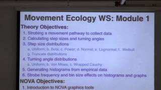 Movement Ecology Modeling using NOVA - Lecture (02/02/14 )