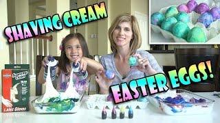 SHAVING CREAM EASTER EGGS!  DIY Marbled Egg Dyeing