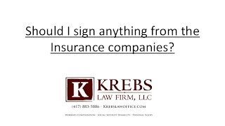 Should I sign anything from the insurance company after a Missouri accident?