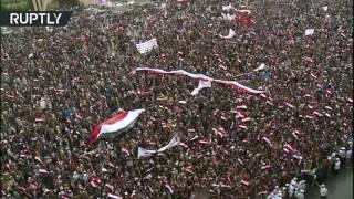 Тысячи человек протестуют в Йемене против ударов коалиции во главе с Саудовской Аравией