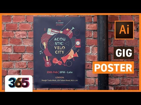 Gig Poster Design | Illustrator CC Tutorial #56/365 Days Of Creativity