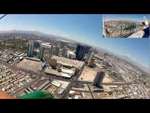 X Scream - On board POV from the front seat of X-Scream on the top of the Stratosphere Hotel & Casino in Las Vegas. I was the only sole rider on this thing.