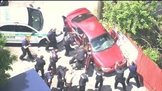 Погоня в стиле GTA: более десятка полицейских с собаками против нарушителя скоростного режима