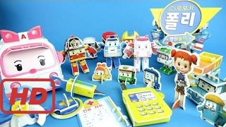 Robocapoli Hospital Play Origami Toys - Making Poly, Roy, Amber, Helly And All 8 Species Toy Play P