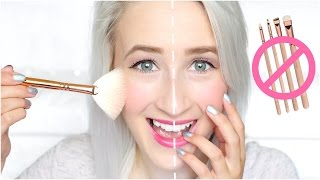Video BRUSHES vs FINGERS Makeup Challenge | Sophie Louise MP3, 3GP, MP4, WEBM, AVI, FLV Januari 2018