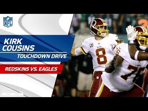 Video: Kirk Cousins Guides Washington on Big TD Drive! | Redskins vs. Eagles | NFL Wk 7 Highlights