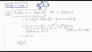 Time Complexity of Recursive Algorithms using Recurrences Part 2/4