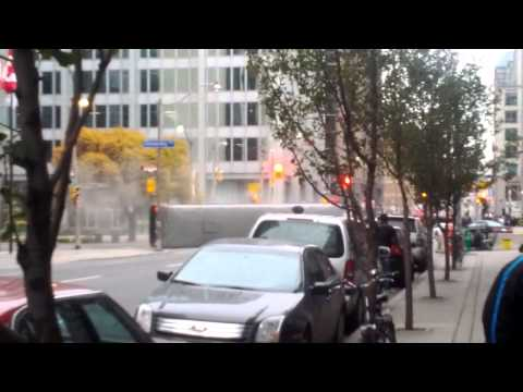 Bus Flips in Toronto - Filming The King and Maxwell