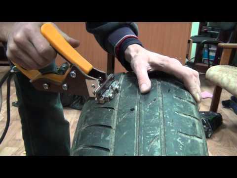 Как нарезать протектор на грузовой шине своими руками 57