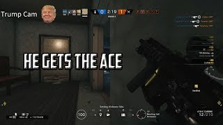 Highlights of ranked on Tom Clancy's Rainbow Six Siege where our friend Trump gets an ace. Also I included me opening 5 alpha ...