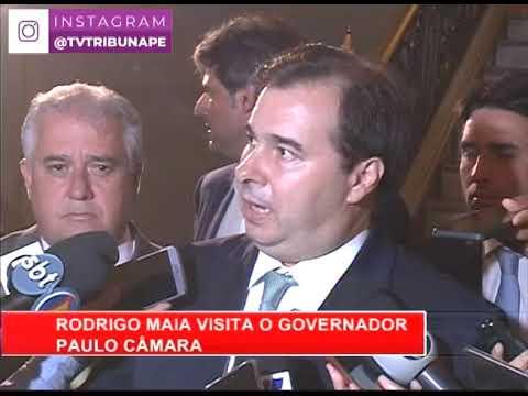 [RONDA GERAL] Rodrigo Maia visita o governador Paulo Câmara para discutir a reforma da Previdência