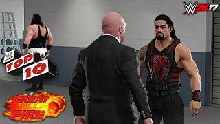 Top 10 Great Balls of Fire 2017 Moments - WWE 2K17