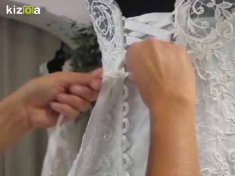 Montage Vidéo Kizoa: Laçage robe de mariée