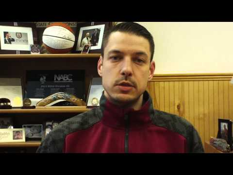 Matt Logie men's basketball Feb. 16, 2015