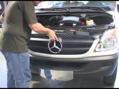 how to install mercedes sprinter grille parts