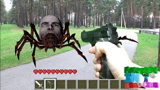 MINECRAFT IN REAL LIFE - Steve vs spiders vs zombie - REALISTIC MINECRAFT