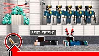 MY BEST FRIEND MADE ME BREAK THE LAW in Minecraft!