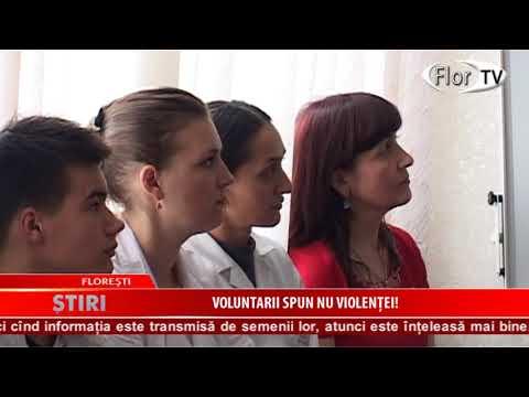 Voluntarii spun NU VIOLENȚEI!