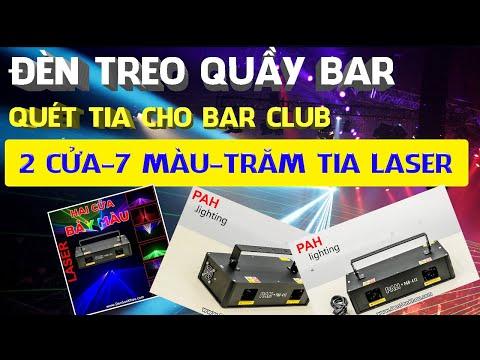 Đèn Laser 2 cửa 7 màu độc đáo cho phòng hát Karaoke
