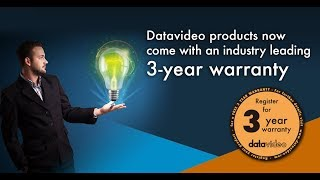 Datavideo Products 3-Year Warranty. Leads the Industry