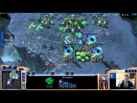 2v2 game two zerg agains toss and zerg