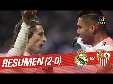 Resumen de Real Madrid vs Sevilla FC (2-0)