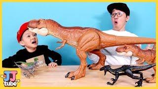 공룡 상황극 모아보기 티라노 알 쥬라기 월드 뼈다귀 공룡이 살아났어요 Jurassic Dinosaurs Nursery Rhymes for kids[제이제이 튜브-JJ tube]