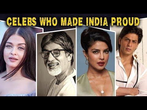 Bollywood Stars Who Made India Proud | Shah Rukh K