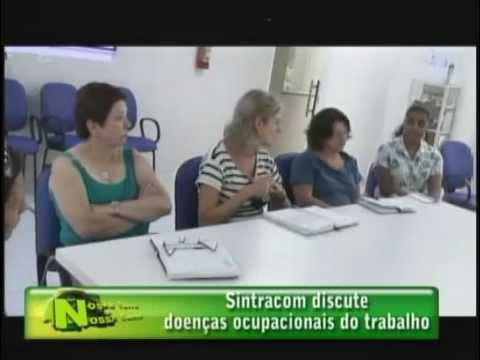 SINTRACOM discute doenças ocupacionais do trabalho