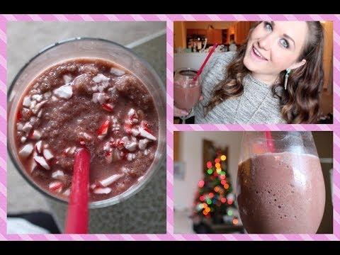 DIY Chocolate Peppermint Protein Shake Recipe! #CraftyChristmas Video 7