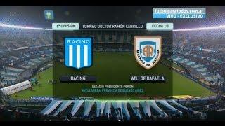 Fútbol En Vivo. Racing - Rafaela. Fecha 10. Torneo Primera División 2014. FPT.