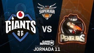 SUPERLIGA ORANGE - VODAFONE GIANTS VS PENGUINS - Jornada 11 - #SuperligaOrangeCR11