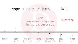 Pharrell Williams - Happy Drum Score