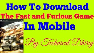 Nonton How To Download The Fast And Furious Game in Mobile || In Hindi || Film Subtitle Indonesia Streaming Movie Download