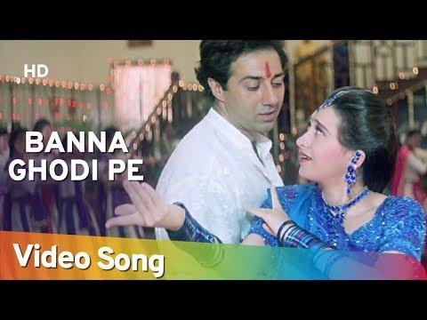 Banna Ghodi Pe   Ajay Songs   Sunny Deol   Karishma Kapoor  Farida Jalal   Laxmikant Berde