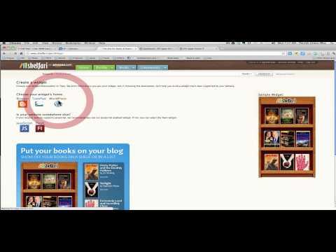 Embed a Shelfari Bookshelf Widget in a Wordpress Blog