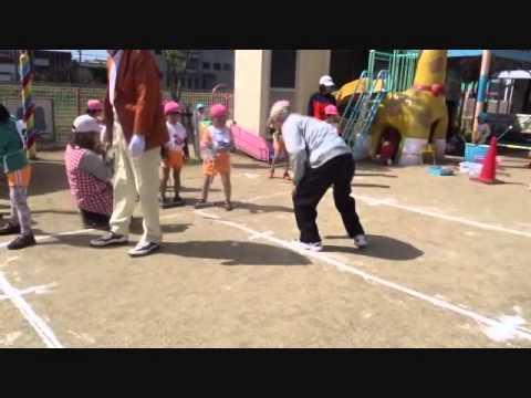 「57年度西崎保育園ゲートボール教室」