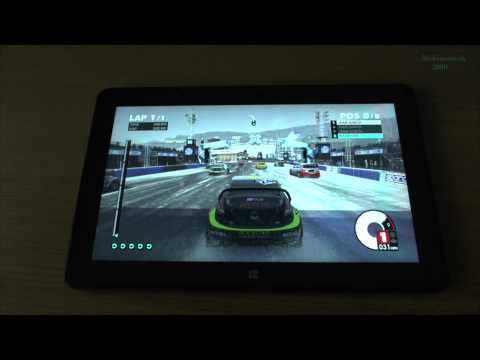 1# Dirt 3 test on tablet Intel Core M-5Y71 new Dell Venue 11 Pro 7140 - high details
