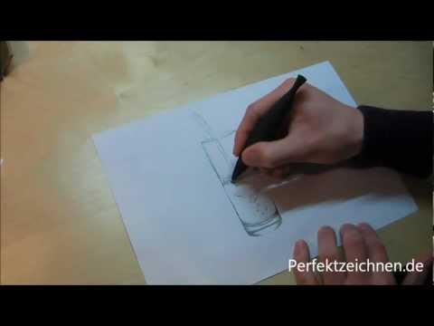 TOTAL EDEL: Glas Zeichnen Lernen Online: Perfekte Reflektionen im Wasserglas!