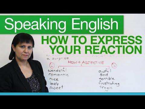 (videó) Ingyen angol szókincs hanganyag - reakciók kifejezése