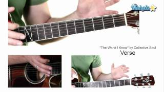 """Download Lagu How to Play """"The World I Know"""" by Collective Soul on Guitar Mp3"""